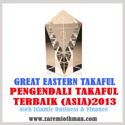 Great Eastern Takaful Terbaik Asia 2013